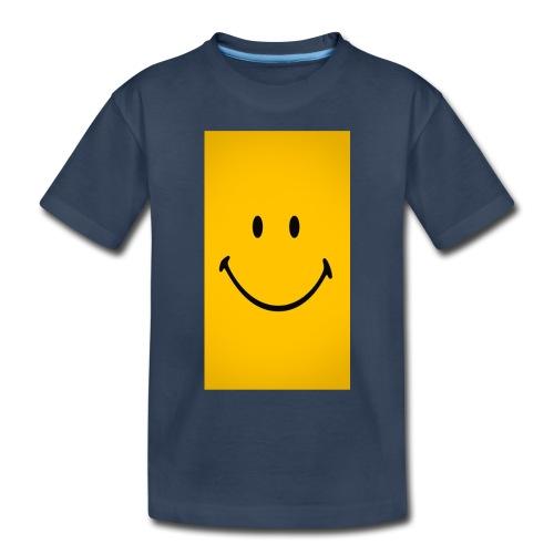 Smiley face - Toddler Premium Organic T-Shirt