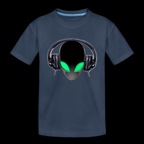Alien Music Lover DJ (Simplified Fit All Design) - Toddler Premium Organic T-Shirt