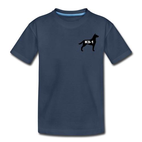 k9-1 Logo Large - Toddler Premium Organic T-Shirt