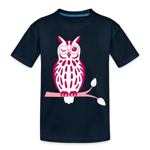 Winky Owl - Toddler Premium Organic T-Shirt