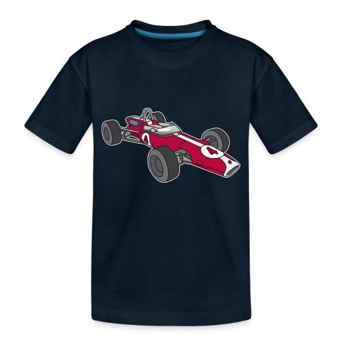 Red racing car, racecar, sportscar - Toddler Premium Organic T-Shirt