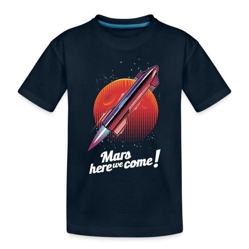 Mars Here We Come - Dark - Toddler Premium Organic T-Shirt