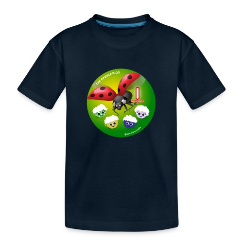 The Babyccinos Alphabet The Letter I - Toddler Premium Organic T-Shirt