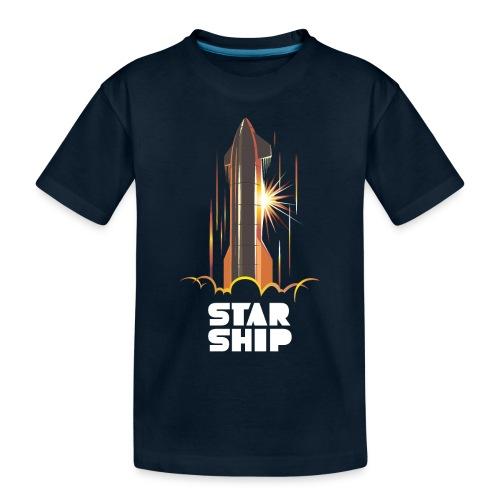 Star Ship Mars - Dark - Toddler Premium Organic T-Shirt