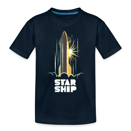 Star Ship Earth - Dark - Toddler Premium Organic T-Shirt