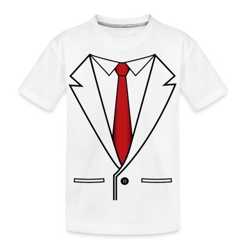 Suit and Red Tie - Kid's Premium Organic T-Shirt