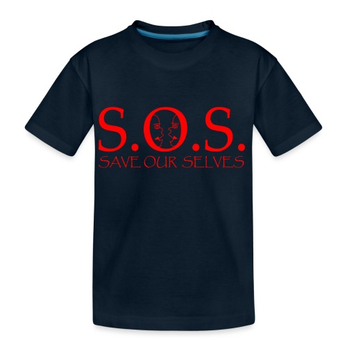 sos red - Kid's Premium Organic T-Shirt