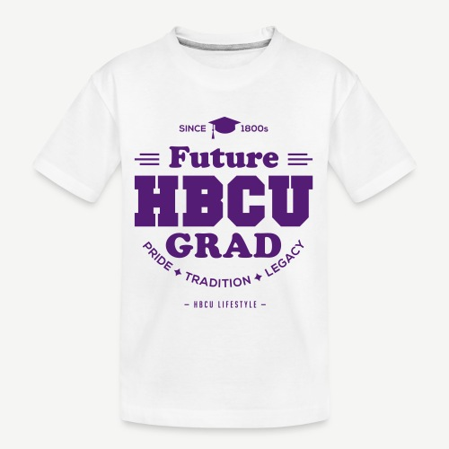 Future HBCU Grad Youth - Kid's Premium Organic T-Shirt