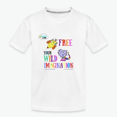 LOLAS LAB FREE YOUR WILD IMAGINATION TEE - Kid's Premium Organic T-Shirt