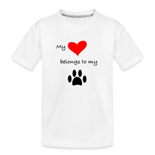 Dog Lovers shirt - My Heart Belongs to my Dog - Kid's Premium Organic T-Shirt