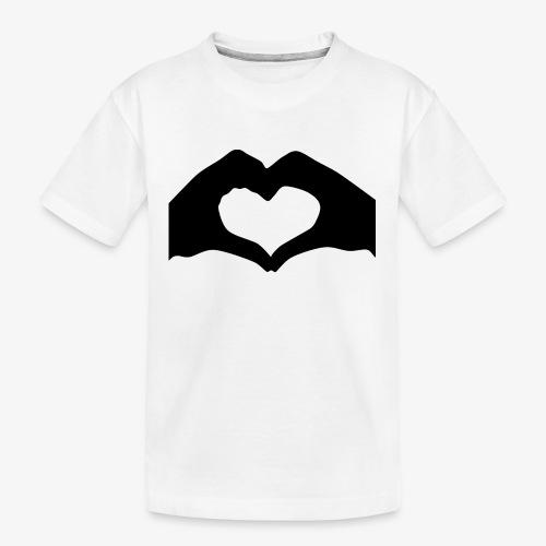 Silhouette Heart Hands | Mousepad - Kid's Premium Organic T-Shirt
