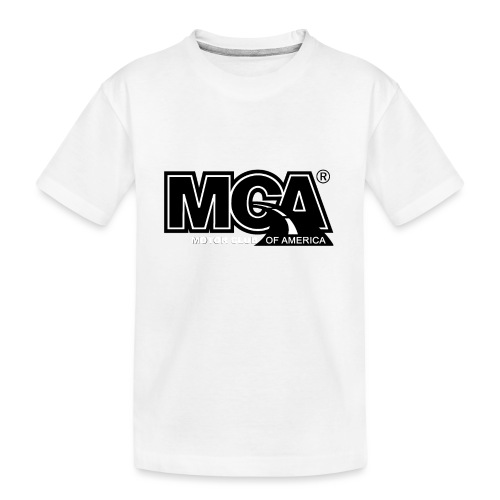 MCA Logo WBG Transparent BLACK TITLEfw fw png - Kid's Premium Organic T-Shirt