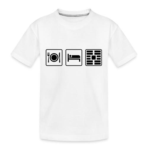 Eat Sleep Urb big fork - Kid's Premium Organic T-Shirt