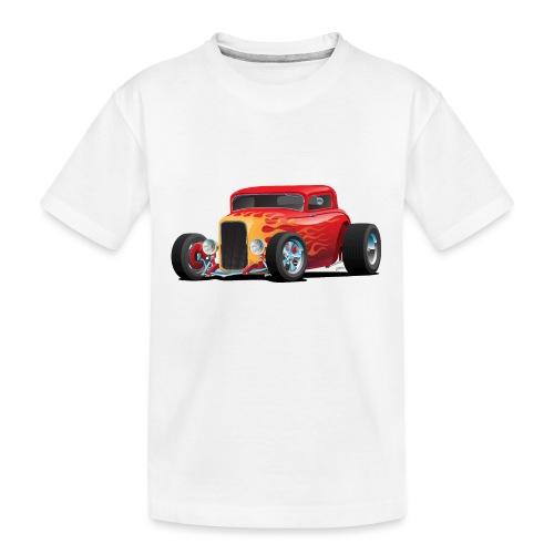 Classic Bold Red Custom Street Rod - Kid's Premium Organic T-Shirt