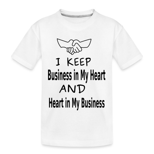 Business Heart - Kid's Premium Organic T-Shirt