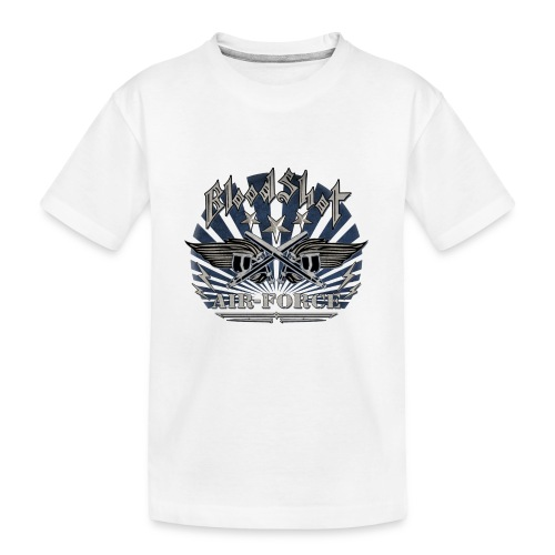 BloodShot Air Force with black - Kid's Premium Organic T-Shirt