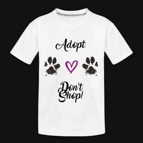 Adopt, don't shop! - Kid's Premium Organic T-Shirt