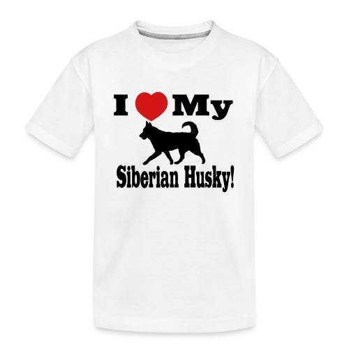 I Love my Siberian Husky - Kid's Premium Organic T-Shirt