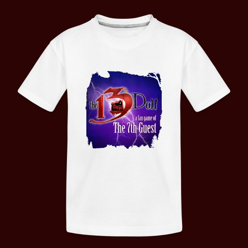 The 13th Doll Logo With Lightning - Kid's Premium Organic T-Shirt