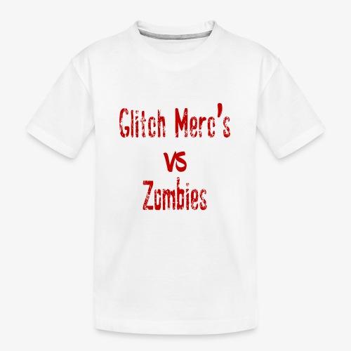 glitch zombie red - Kid's Premium Organic T-Shirt