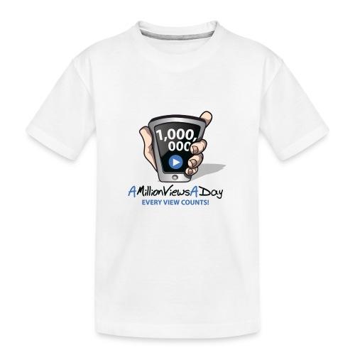 AMillionViewsADay - every view counts! - Kid's Premium Organic T-Shirt