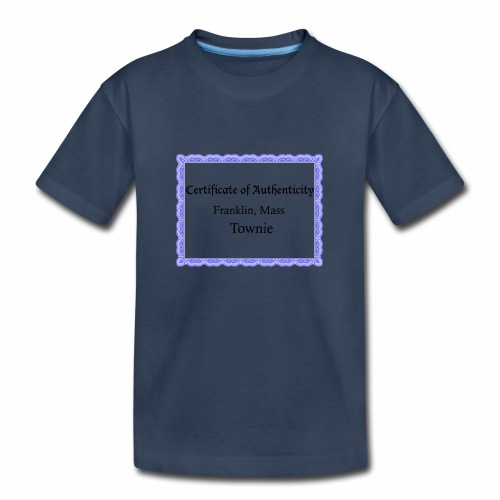 Franklin Mass townie certificate of authenticity - Kid's Premium Organic T-Shirt