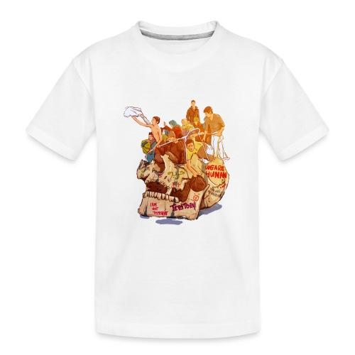 Skull & Refugees - Kid's Premium Organic T-Shirt
