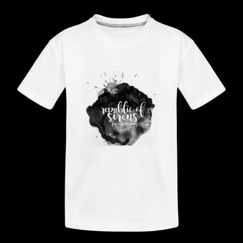 ROS FINE ARTS COMPANY - Black Aqua - Kid's Premium Organic T-Shirt