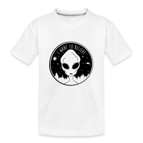 I Want To Believe - Kid's Premium Organic T-Shirt