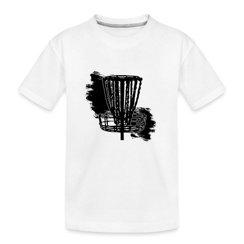 Disc Golf Basket Paint Black Print - Kid's Premium Organic T-Shirt