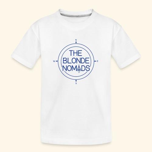 The Blonde Nomads Blue Logo - Kid's Premium Organic T-Shirt