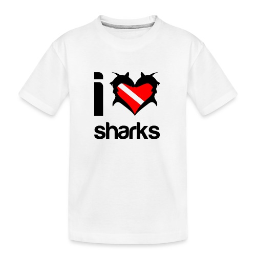 I Love Sharks - Kid's Premium Organic T-Shirt