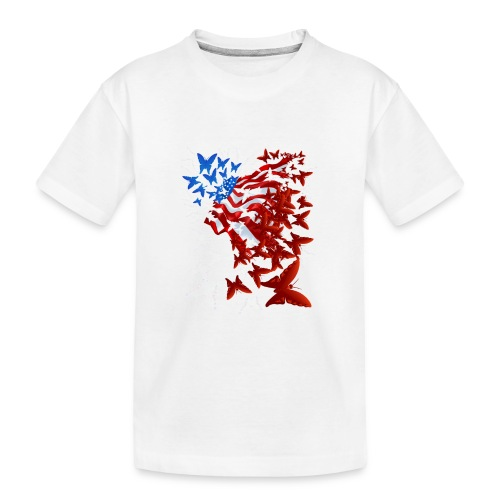 The Butterfly Flag - Kid's Premium Organic T-Shirt