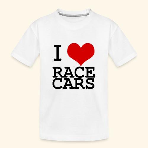 I Love Race Cars - Kid's Premium Organic T-Shirt