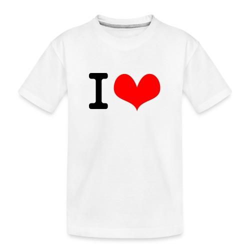 I Love what - Kid's Premium Organic T-Shirt