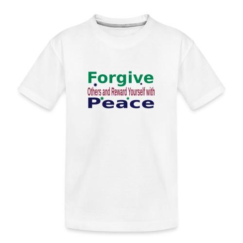 Forgive to get Peace - Kid's Premium Organic T-Shirt