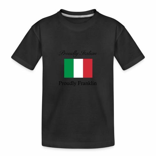 Proudly Italian, Proudly Franklin - Kid's Premium Organic T-Shirt