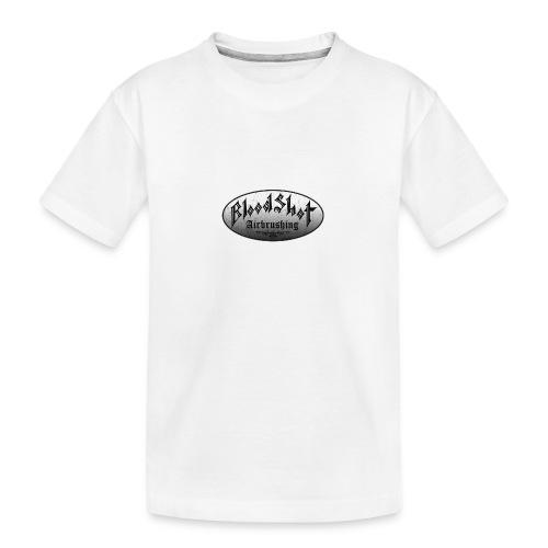 BloodShot Logo Black/White - Kid's Premium Organic T-Shirt