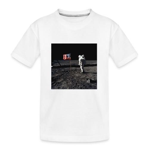 buzzAldrin jpg - Kid's Premium Organic T-Shirt