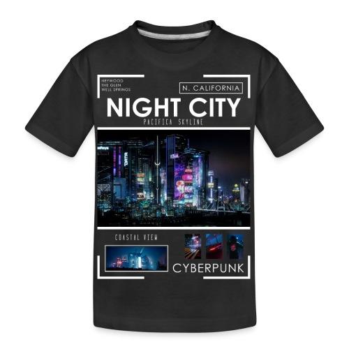 Night City Pacifica Skyline - Kid's Premium Organic T-Shirt