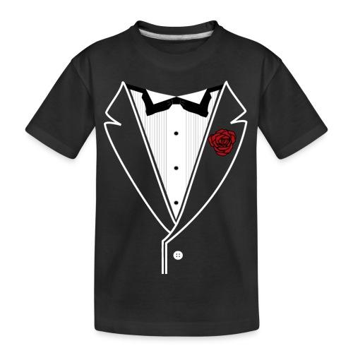 Tuxedo w/White Lapel - Kid's Premium Organic T-Shirt