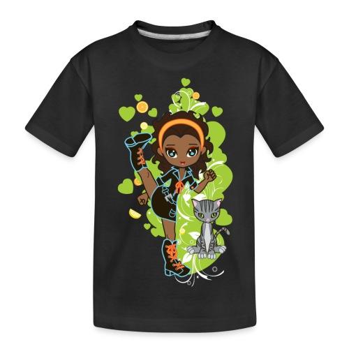 Aisha the African American Chibi Girl - Kid's Premium Organic T-Shirt