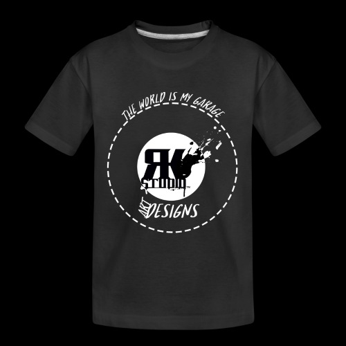 The World is My Garage - Kid's Premium Organic T-Shirt