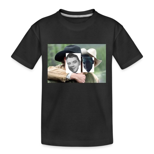 Darien and Curtis Camping Buddies - Kid's Premium Organic T-Shirt