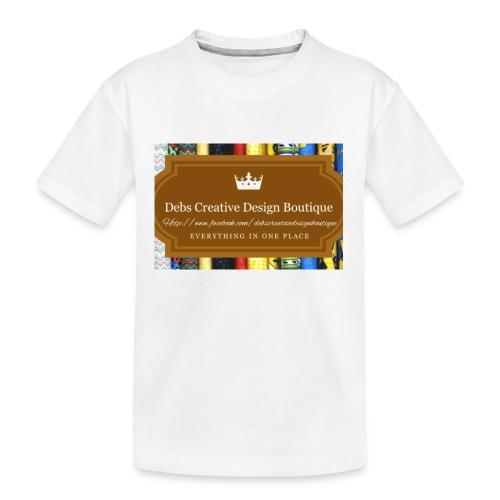 Debs Creative Design Boutique with site - Kid's Premium Organic T-Shirt