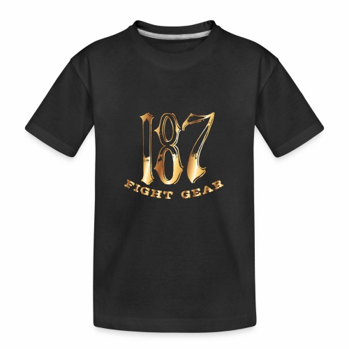 187 Fight Gear Gold Logo Sports Gear - Kid's Premium Organic T-Shirt