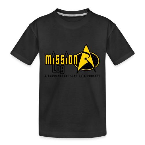 Logo Wide 2 Color Black Text - Kid's Premium Organic T-Shirt