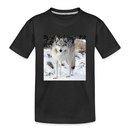 Canis lupus occidentalis - Kid's Premium Organic T-Shirt