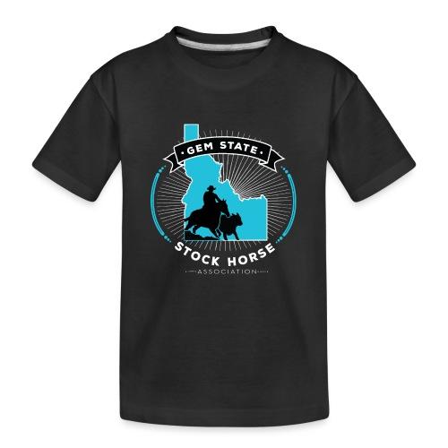 Turquose Sunburst Logo - Kid's Premium Organic T-Shirt