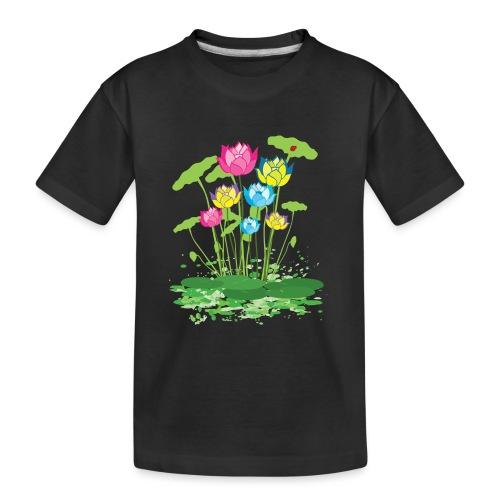 colorful waterlilies flowers - Kid's Premium Organic T-Shirt